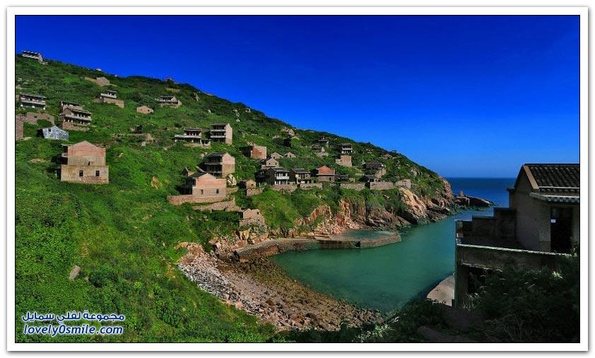 قرية الصيد المهجورة في جزيرة جوكي الصينية