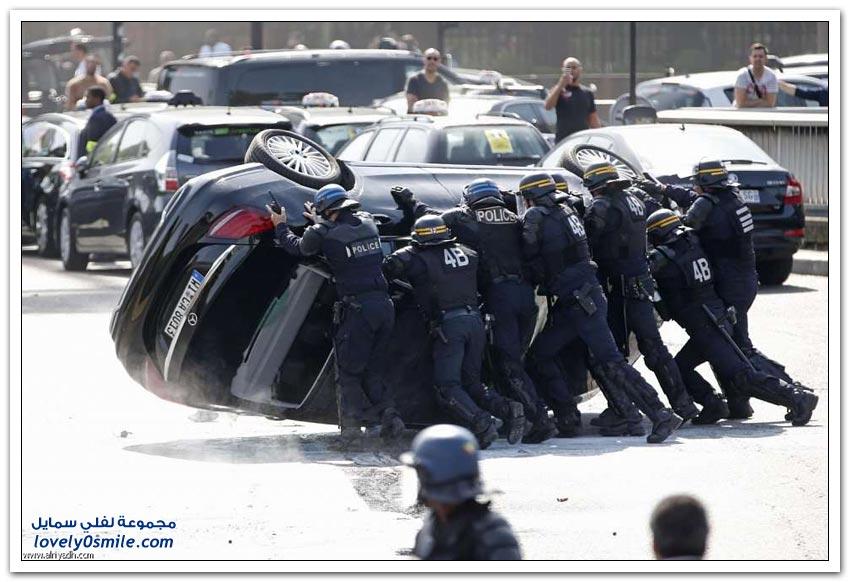 شلل مروري في فرنسا