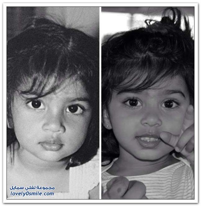 صور لأطفال مع آبائهم عندما كانوا صغار