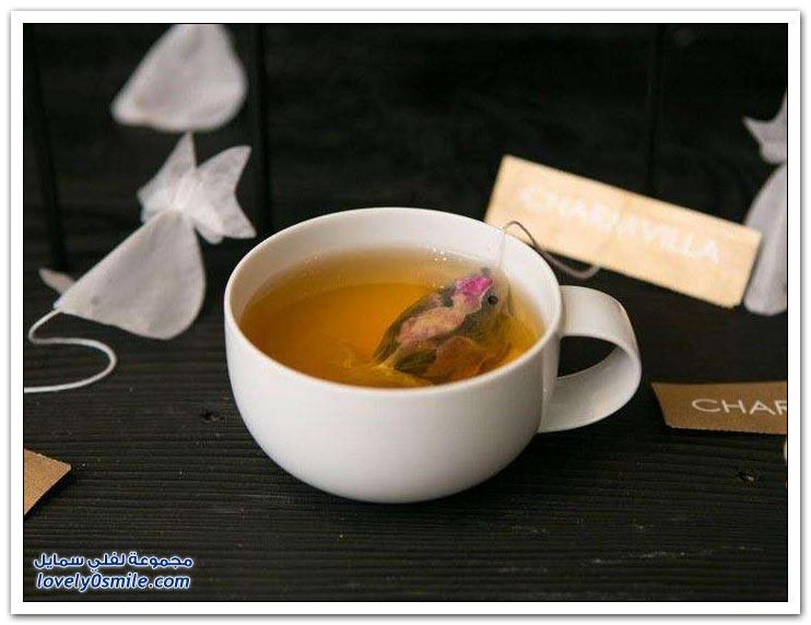 أكياس شاي على شكل أسماك الزينة