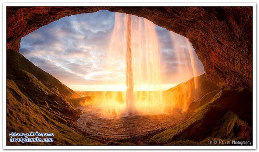 جولة على المناظر الطبيعية في أيسلندا