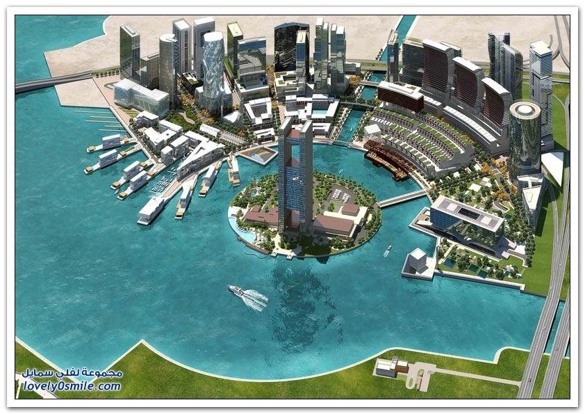 برج المتحدة الملتوي في خليج البحرين