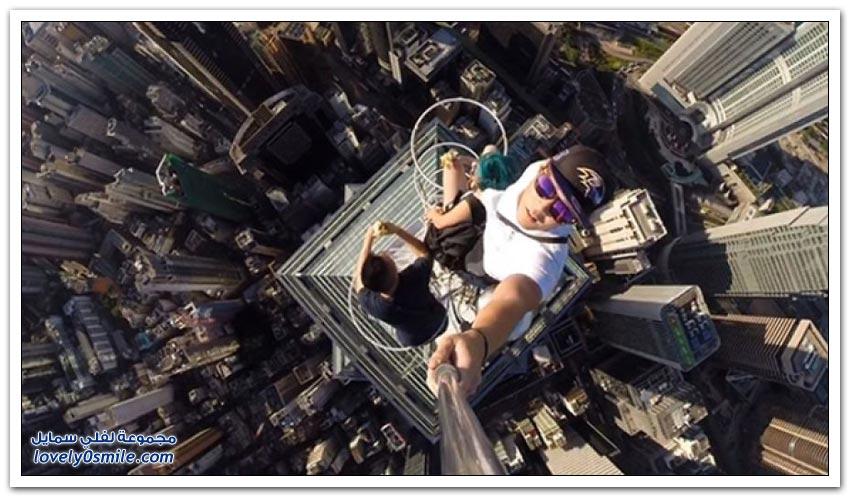 صور رهيبة .. قمة الجنون والمخاطرة