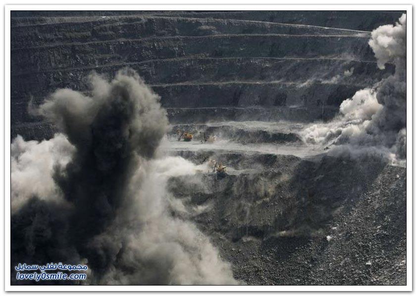 منجم لاستخراج الذهب في سيبيريا