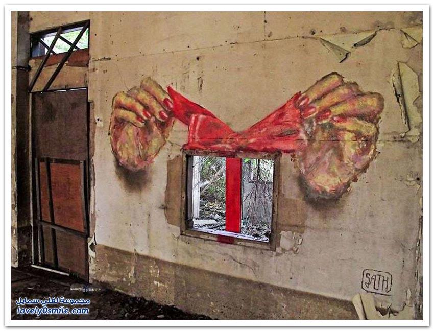 فن الرسم على جدران الشوارع