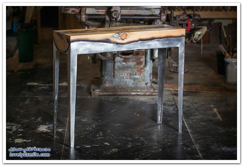 دمج الخشب مع الألمنيوم في صناعة الأثاث