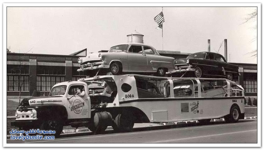 كيف كانت تُنقل السيارات قديماً؟