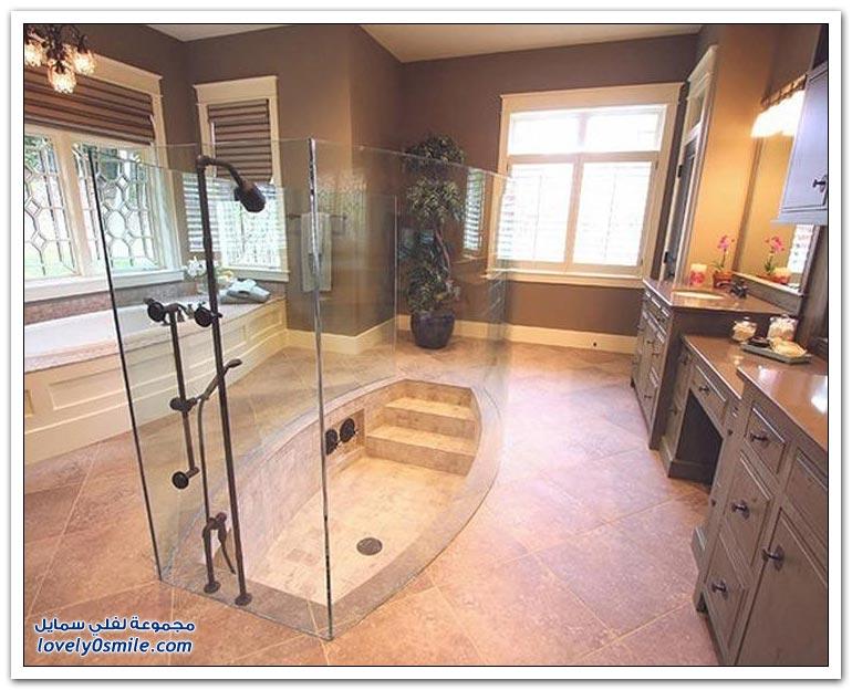 غرف استحمام فريدة من نوعها