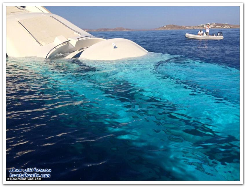 غرق يخت ثمنه 4 ملايين إسترليني في اليونان