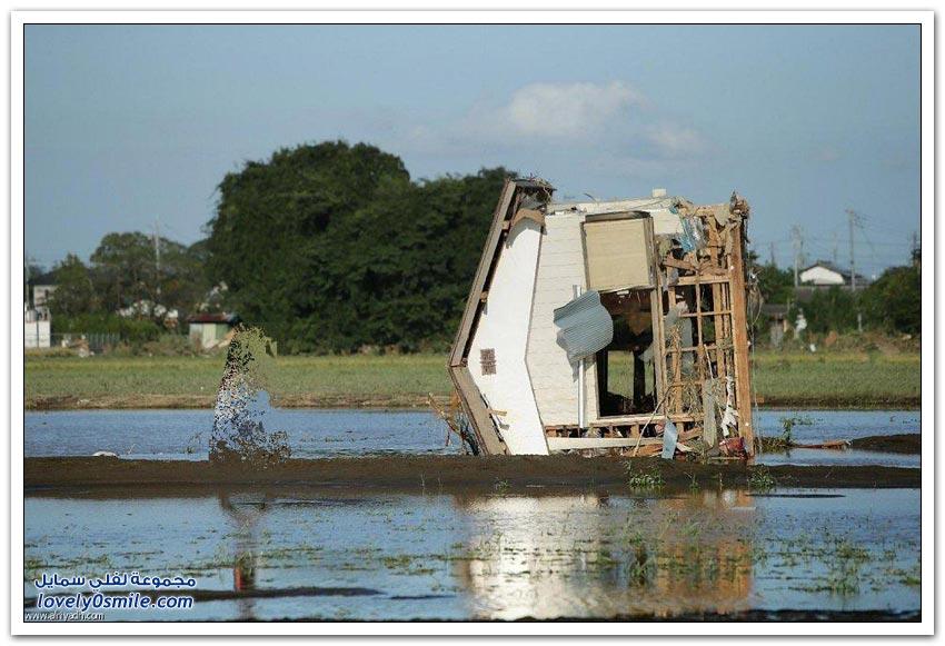 الفيضانات تجتاح اليابان