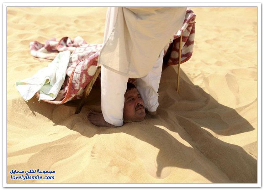 حمامات الرمال الساخنة في سيوة بمصر
