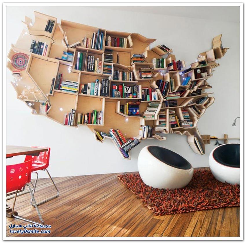 أرفف الكتب الأكثر إبداعا