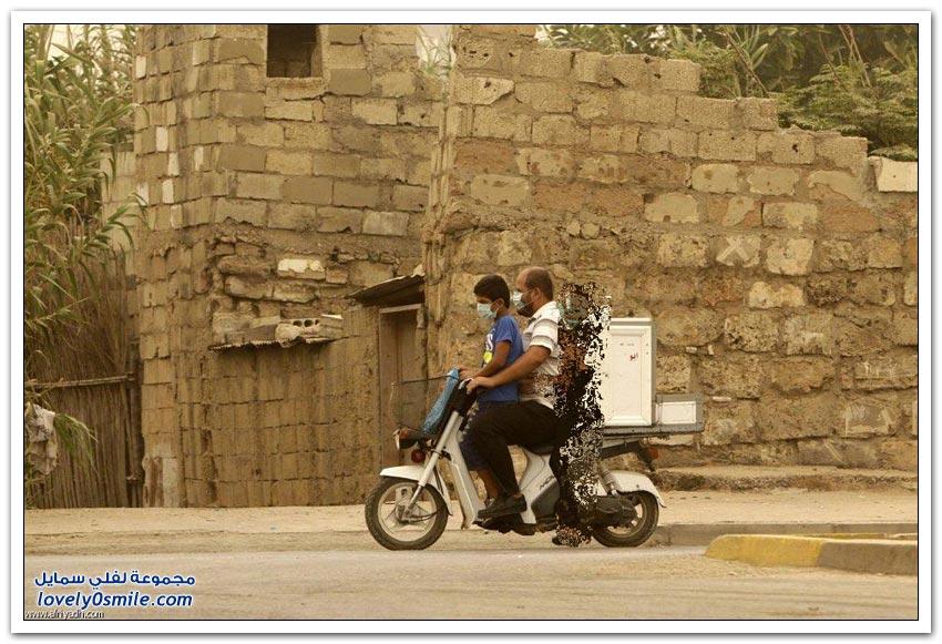 أسوأ عاصفة رملية تضرب لبنان