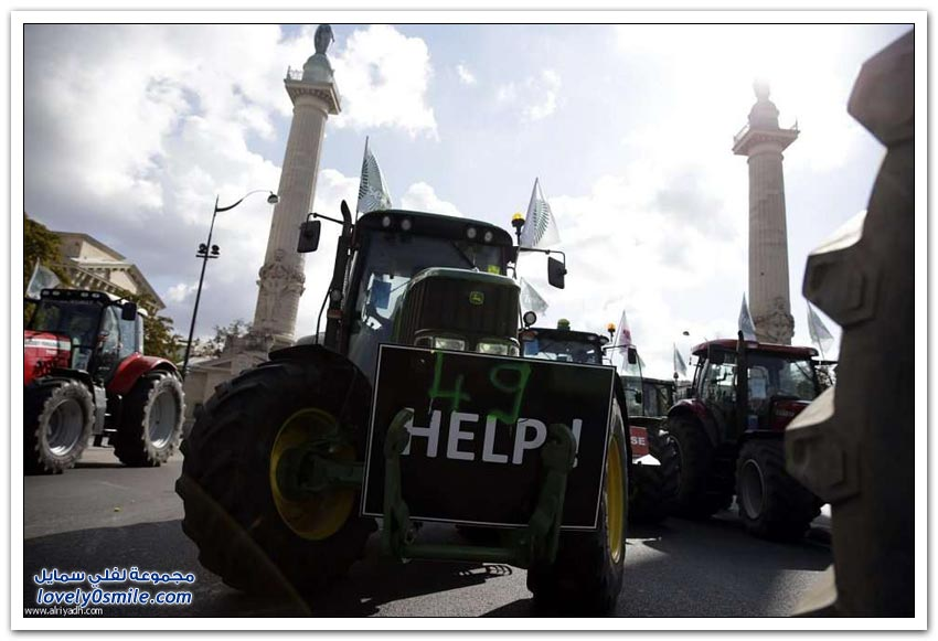 عندما يحتج المزارعون في فرنسا