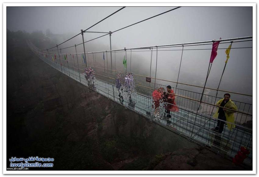 جسر القاع الزجاجي في الصين