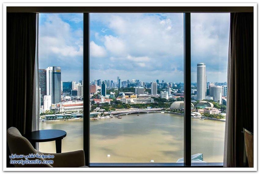 فندق مارينا باي ساندز في سنغافورة