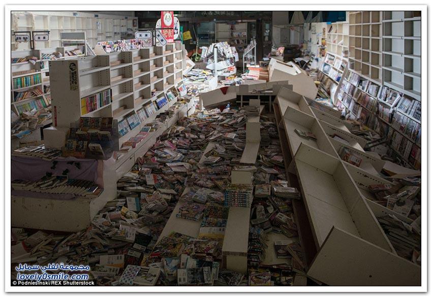 صور من المنطقة المحظورة في مدينة فوكوشيما اليابانية