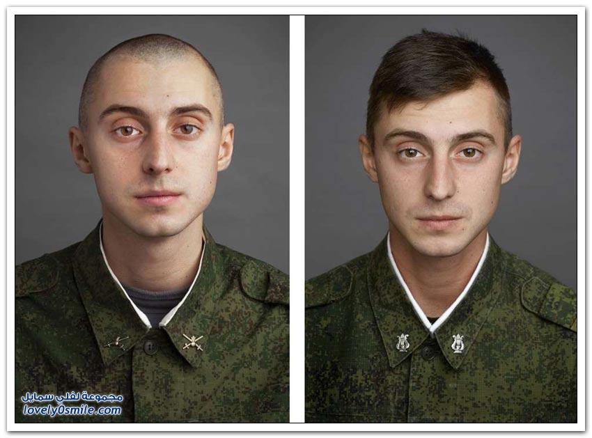 صور لشباب قبل وبعد دخولهم العسكرية