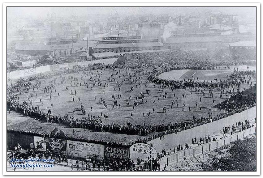 الملاعب الرياضية في النصف الأول من القرن الماضي