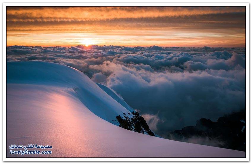 مناظر خلابة من الجبال السويسرية