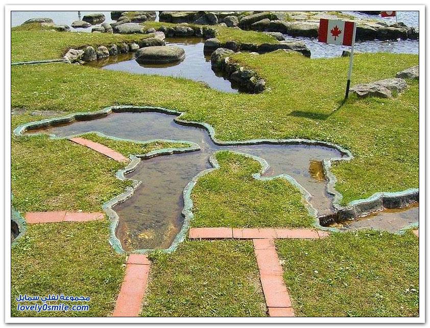 بحيرة في الدانمارك على شكل خريطة العالم