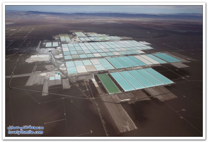 حقول الألغام في صحراء اتكاما في تشيلي