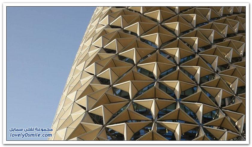 أبراج البحر فى أبو ظبي مبنى يتفاعل مع الشمس