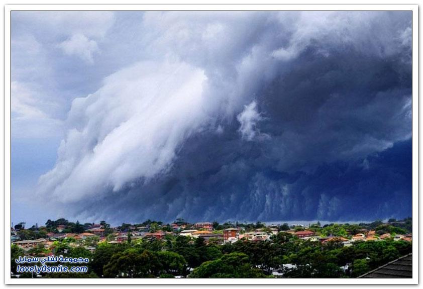 تسونامي من الغيوم يغمر مدينة سيدني الأسترالية