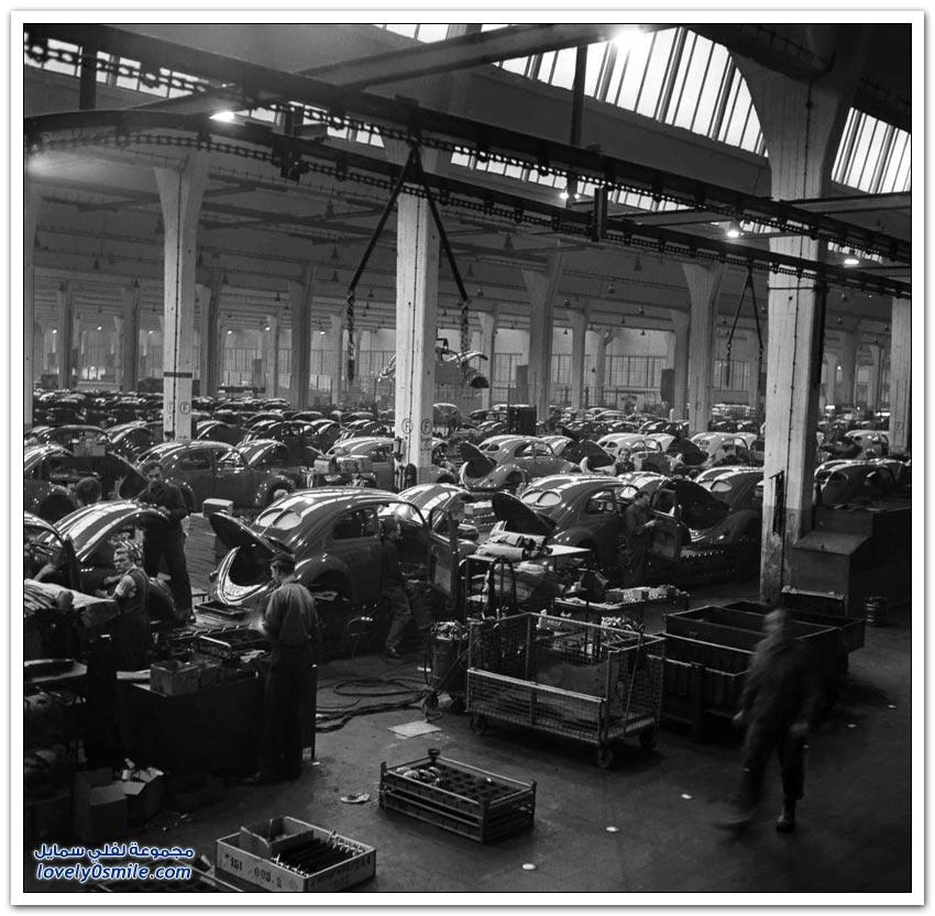 إنتاج سيارة فولكس واجن عام 1945-1960م