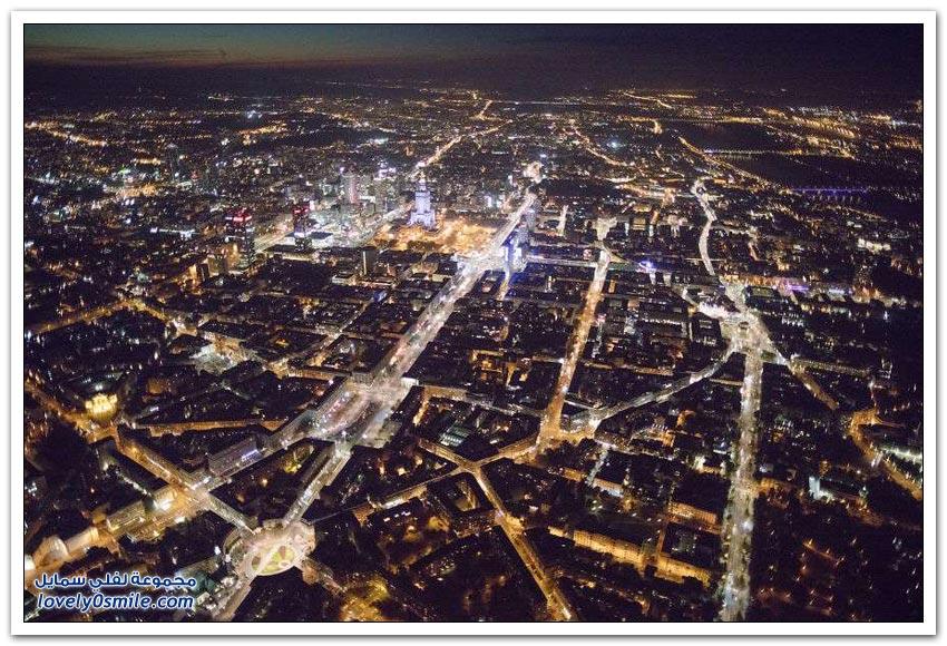جولة جوية على مدينة وارسو