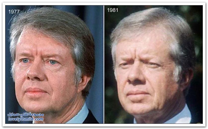 الرؤساء الأمريكيين قبل وبعد الرئاسة