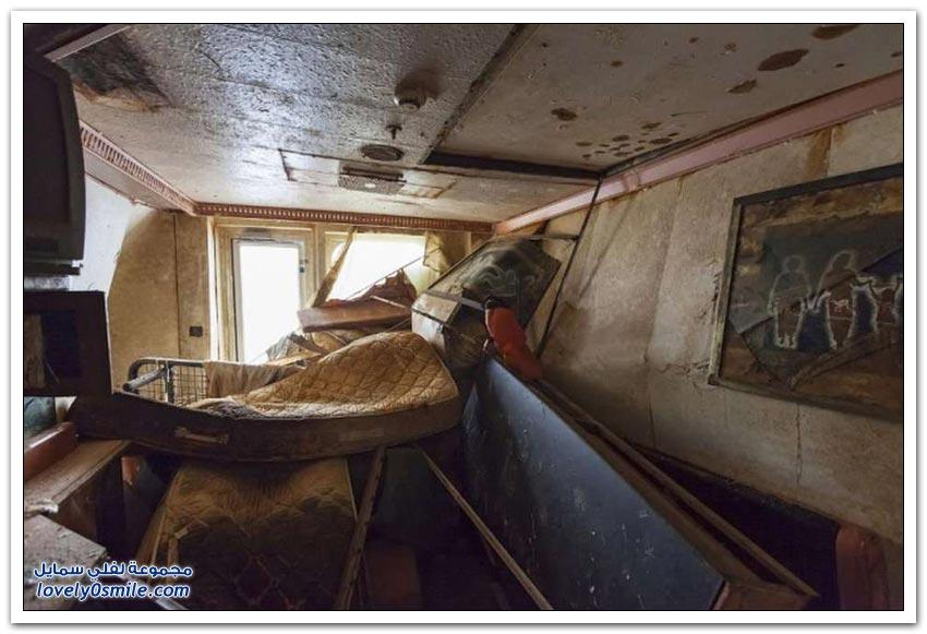 لقطات نادرة من السفينة كوستا كونكورديا بعد غرقها