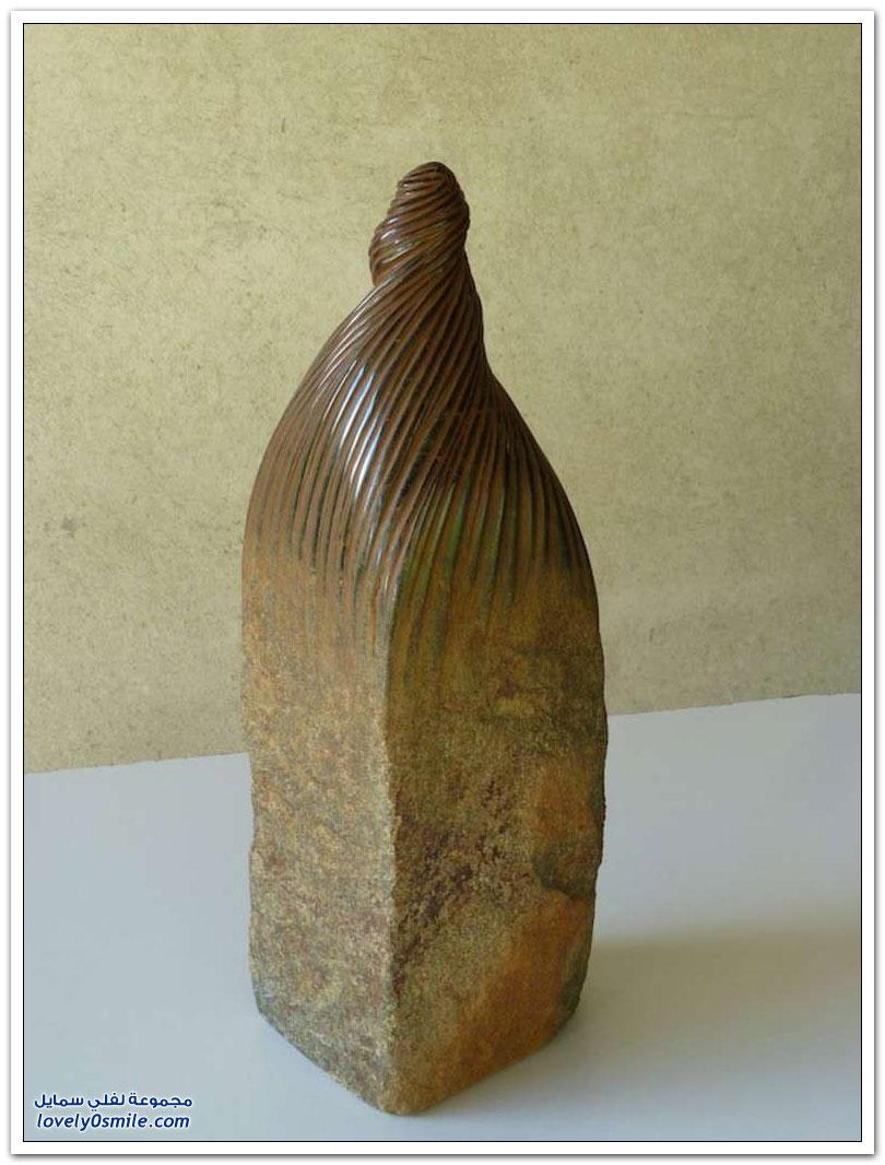 إبداع تحويل الحجارة إلى منحوتات رائعة