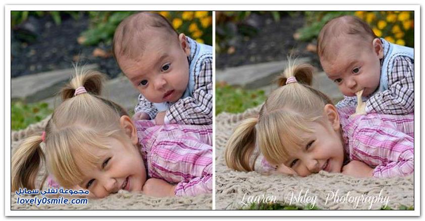 الطفل قد يجعل الصورة جميلة وقد يجعلها مضحكة