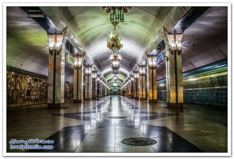 جمال مترو الأنفاق في طشقند