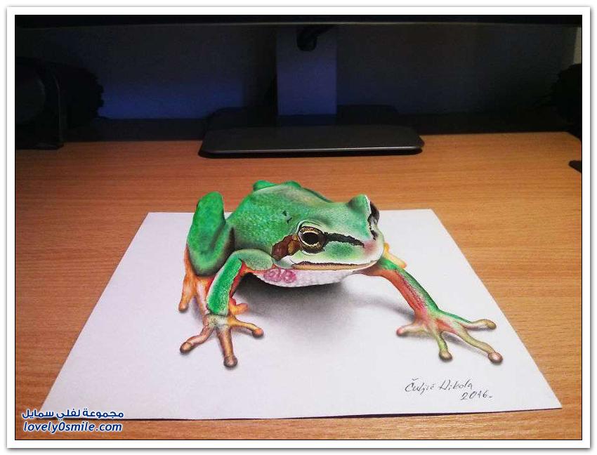 رسومات ثلاثية الأبعاد وكأنها حقيقية