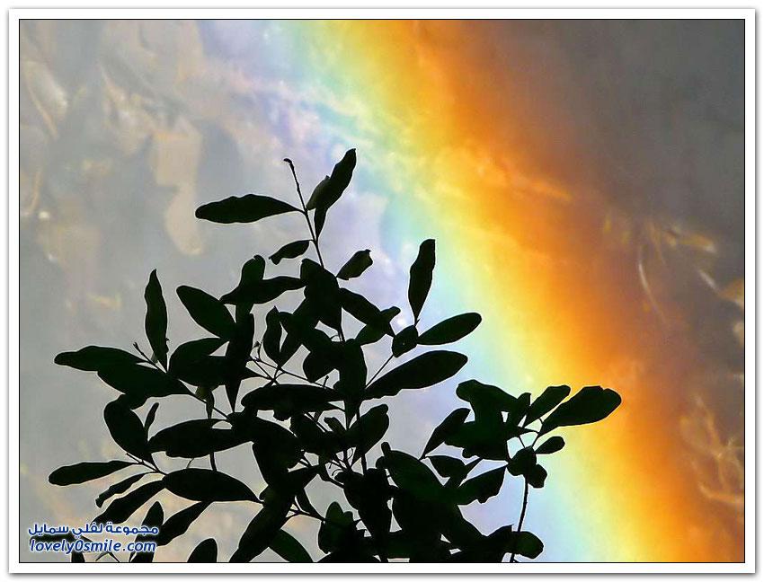 قوس قزح على أكبر شلال في العالم
