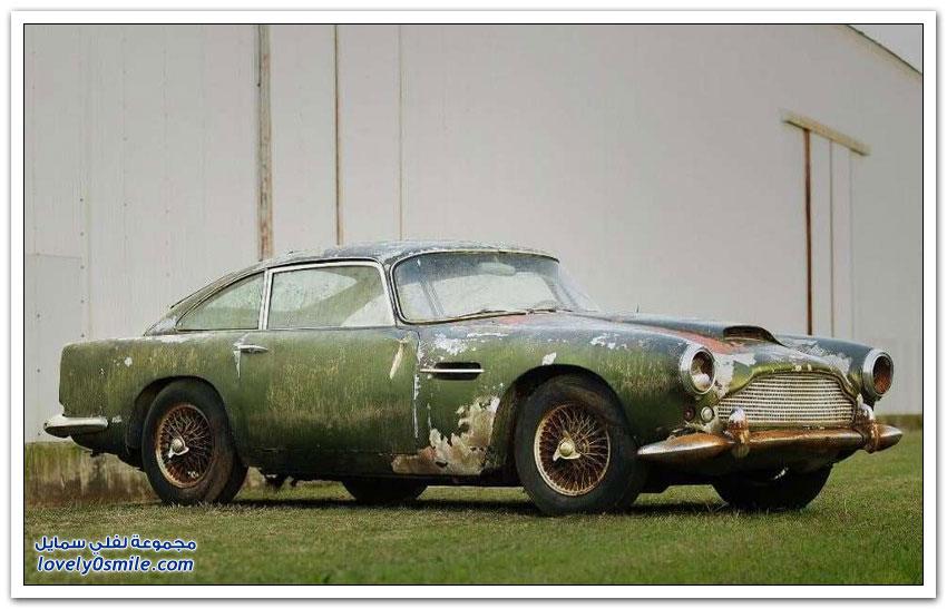 سيارة استون مارتن وقفت في غابة 40 سنة وتباع بـ 400 ألف دولار