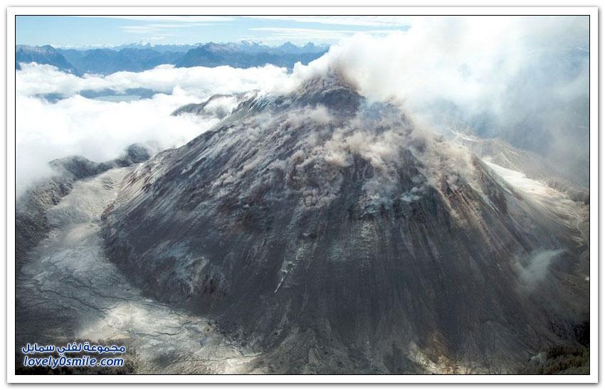 بركان يثور ويغطى بلدة بأكملها فى شيلي