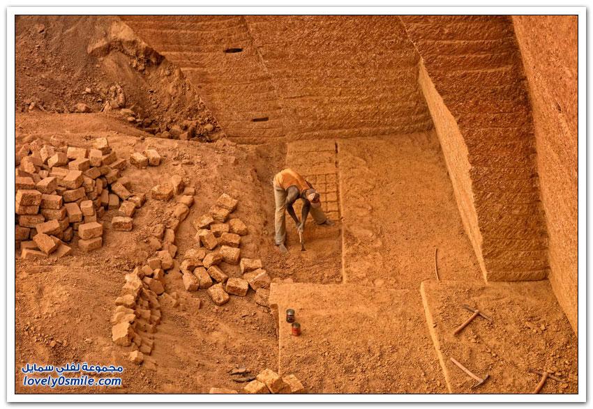 استخراج الطوب في بوركينا فاسو