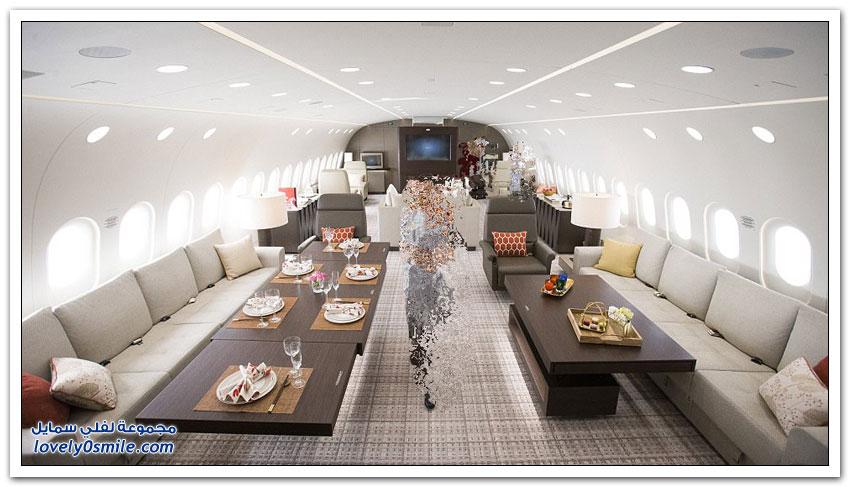 دريملاينر أكبر طائرة خاصة في العالم وتكلفة الساعة فيها 94 الف ريال