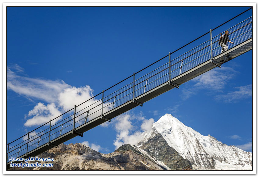 أطول جسر معلق للمشاة في العالم