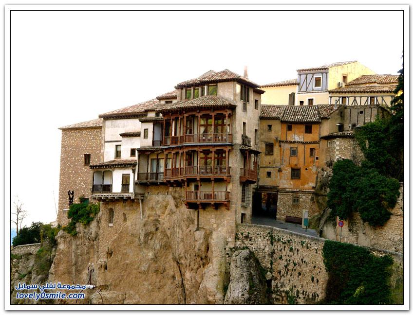 البيوت المعلقة فى كوينكا بإسبانيا