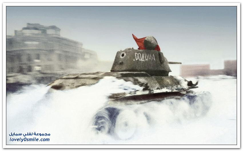 صور من معركة ستالينغراد بالألون