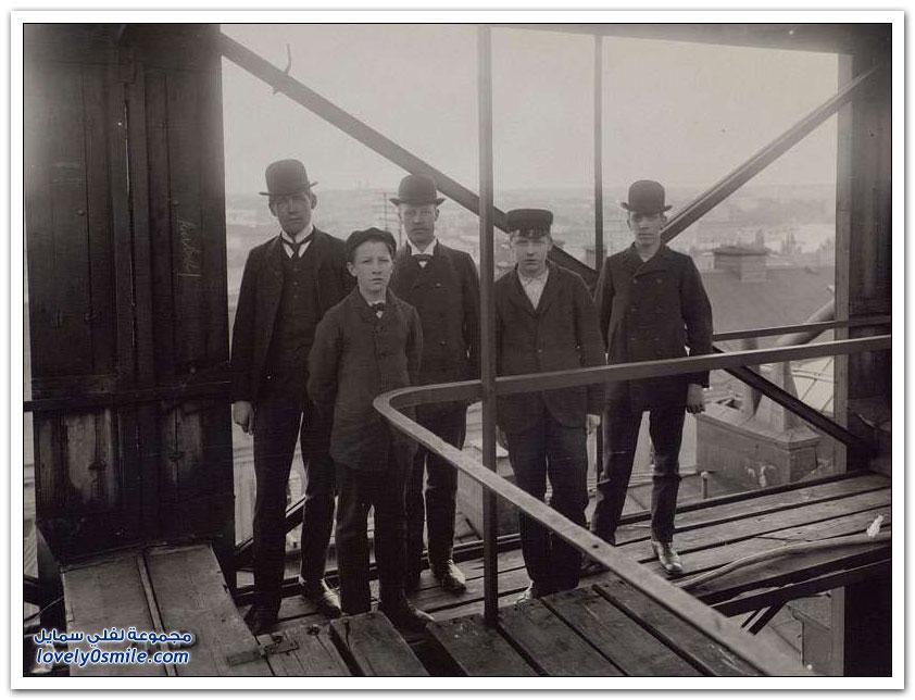 برج الهاتف في ستوكهولم عام 1890م