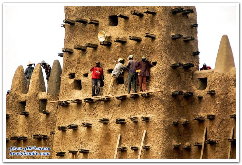 المساجد الطينية الرائعة في غرب أفريقيا