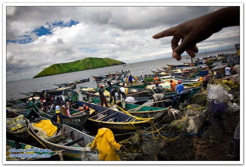 جزيرة الصيادين بمنتصف بحيرة فيكتوريا