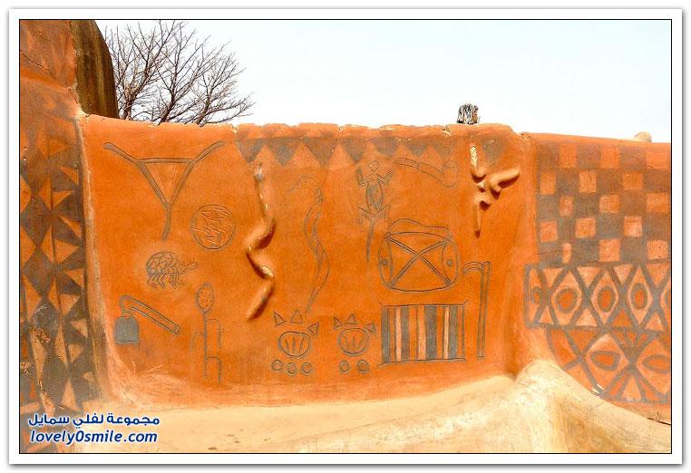 بيوت بوركينا فاسو الغريبة