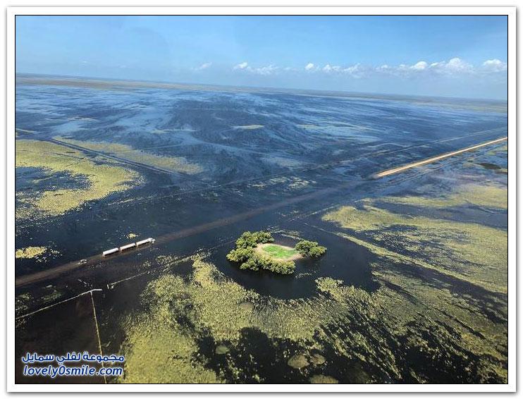الطريق المغمور بالماء في غرب أستراليا