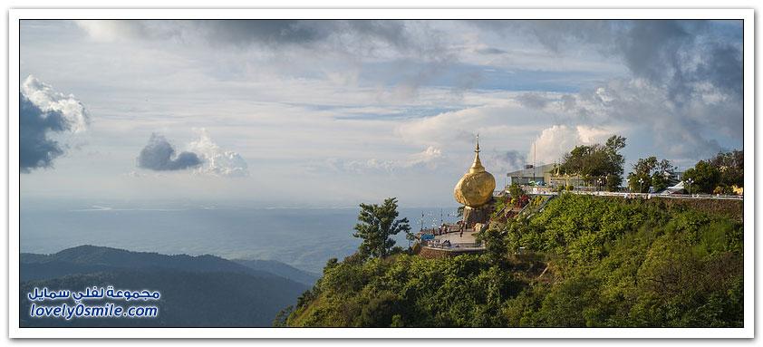 صخرة الشعرة الذهبية أسطورة بورما الخادعة لسياح العالم